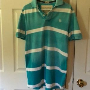 Abercrombie distressed muscle polo like new